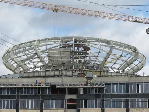 несущие металлоконструкции купола комплекса  Невская ратуша